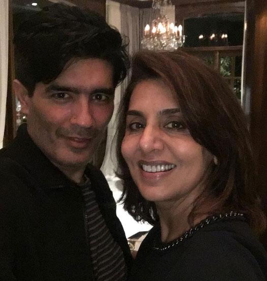 Neetu Singh Snapped at Manish Malhotra's Party!