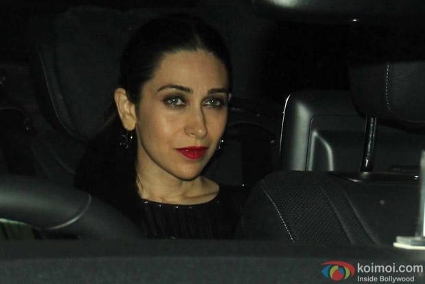 Karishma Kapoor Snapped at Manish Malhotra's Party!