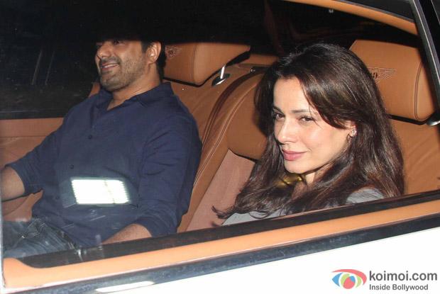 Neelam Kothari Snapped at Manish Malhotra's Party!