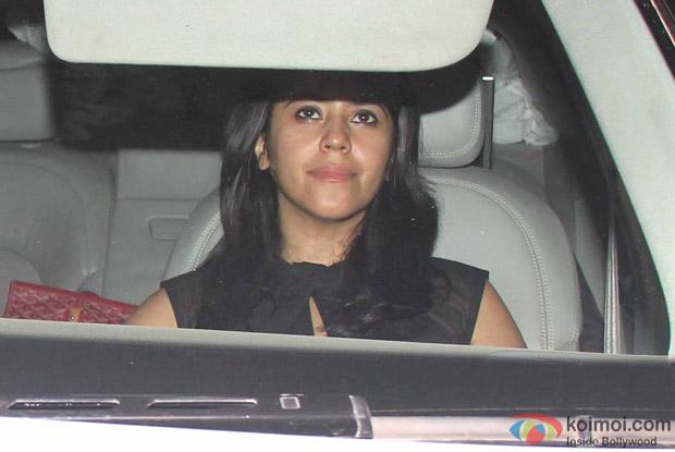 Ekta Kapoor Snapped at Manish Malhotra's Party!