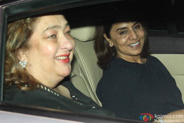 Neetu Singh and Babita Snapped at Manish Malhotra's Party!