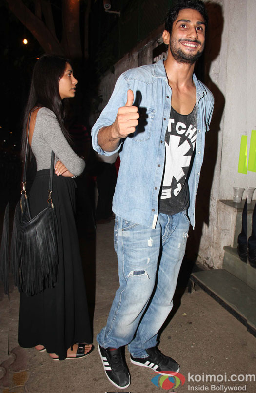 Prateik Babbar with a friend spotted outside a restaurant at Bandra