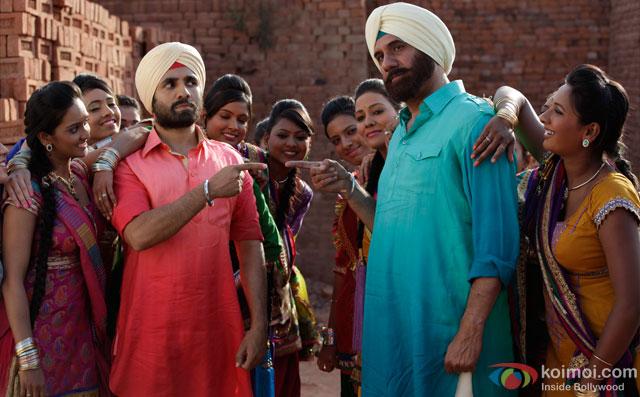 Vir Das and Boman Irani in a still from movie 'Santa Banta Pvt Ltd'