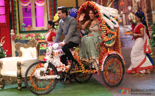 Karan Singh Grover and Bipasha Basu On The Sets Of 'The Kapil Sharma Show'