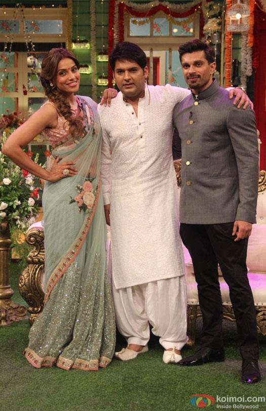 Bipasha Basu and Karan Singh Grover On The Sets Of 'The Kapil Sharma Show'