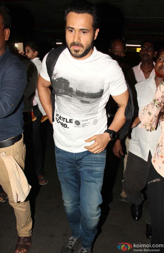 Emraan Hashmi Spotted At Airport