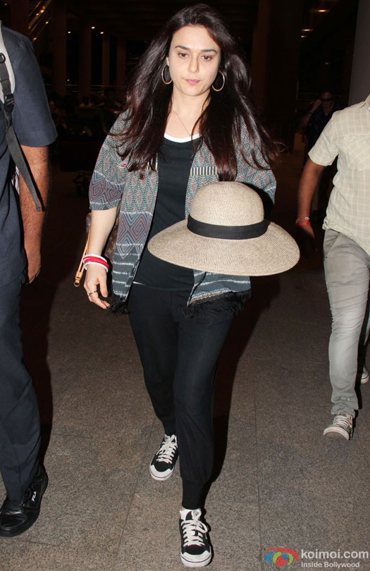 Preity Zinta Spotted At Airport