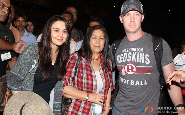 Preity Zinta and Gene Goodenough Spotted At Airport