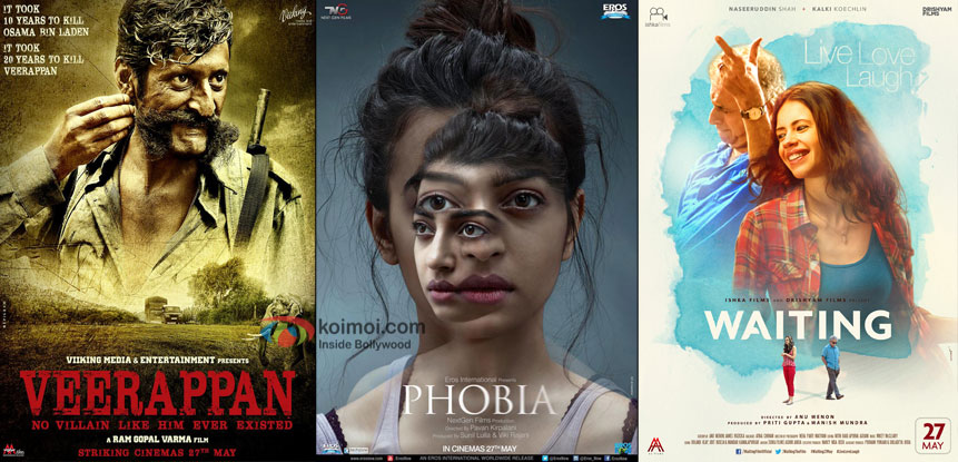 Box Office: Dull Opening Weekend For Veerappan, Phobia & Waiting