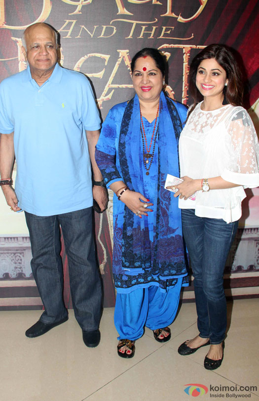 Madhuri, Shilpa, Shamita At Disney's 'Beauty And The Beast