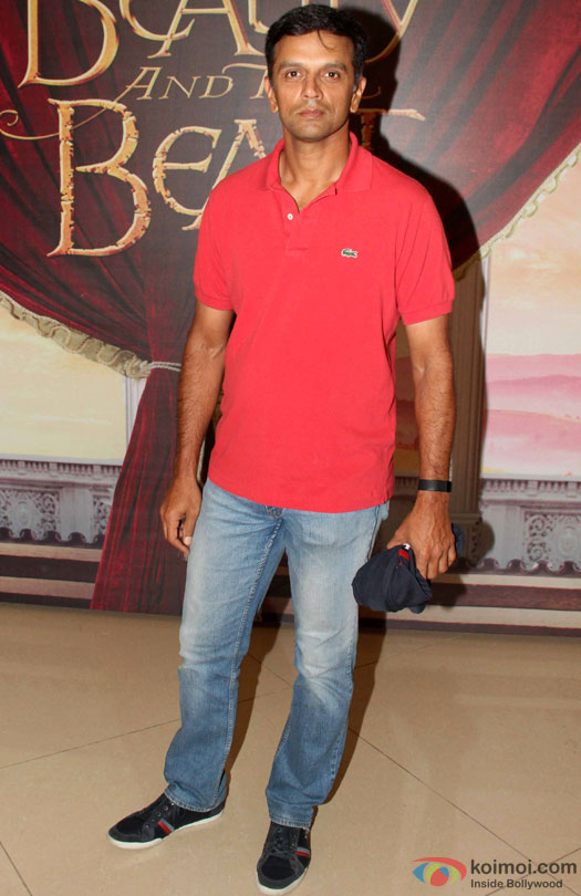 Rahul Dravid during the Disney's 'Beauty And The Beast' Musical Event