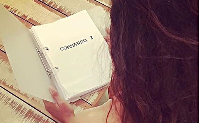 Guess Who's Reading The Script Of Commando 2!