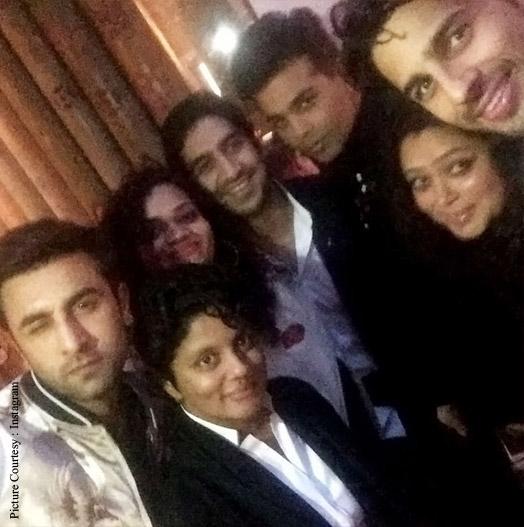 Karan Johar with Ranbir Kapoor, Ayan Mukerji and Sidharth Malhotra