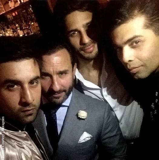 Karan Johar on his birthday with Ranbir Kapoor, Saif Ali Khan and Sidharth Malhotra