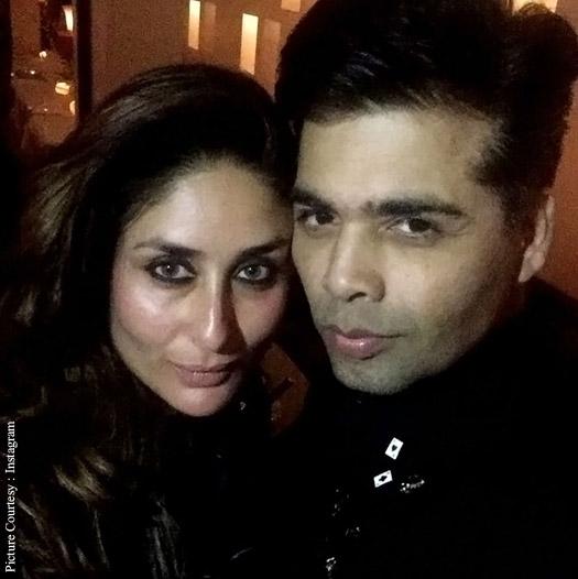 Karan Johar with Kareena Kapoor Khan