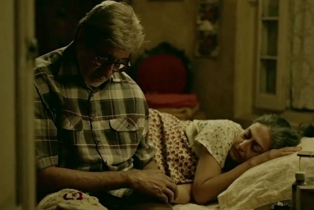 Amitabh Bachchan in a Kyun Re song still from TE3N