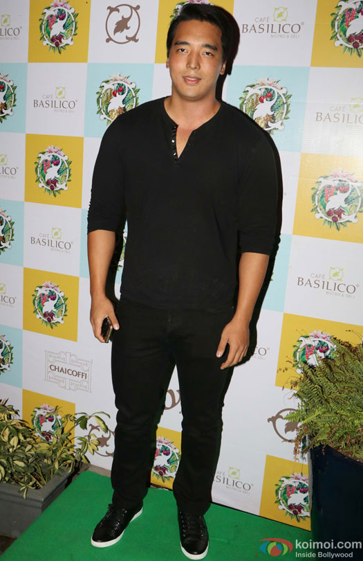 Rinzing Denzongpa during the Launch of Cafe Basilico