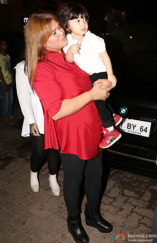 Farhan Azmi and Ayesha Takia Azmi's son during the Launch of Cafe Basilico