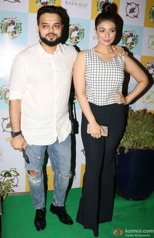 Farhan Azmi and Ayesha Takia Azmi during the Launch of Cafe Basilico