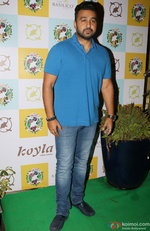 Raj Kundra during the Launch of Cafe Basilico