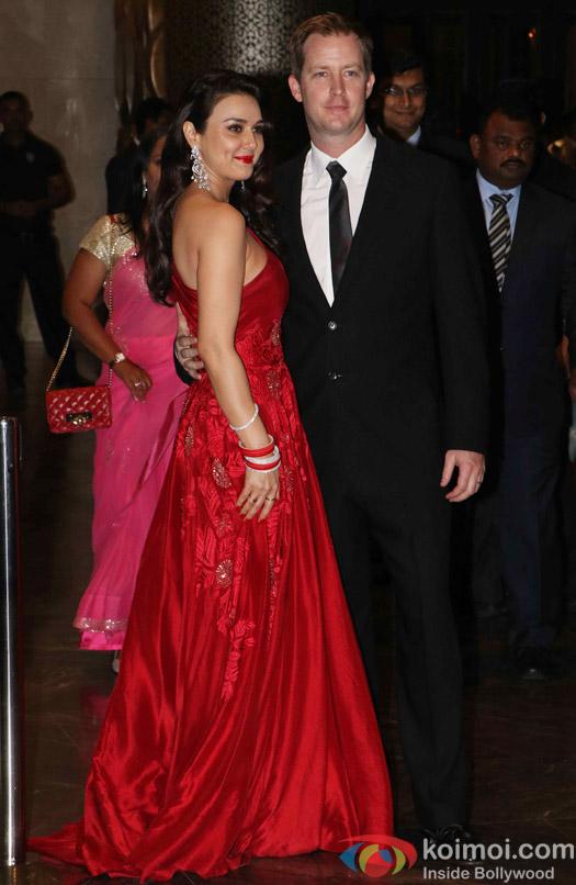 Preity Zinta & Gene Goodenough at their wedding reception