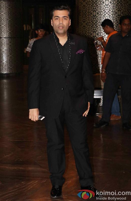 Karan Johar at Preity Zinta's wedding reception