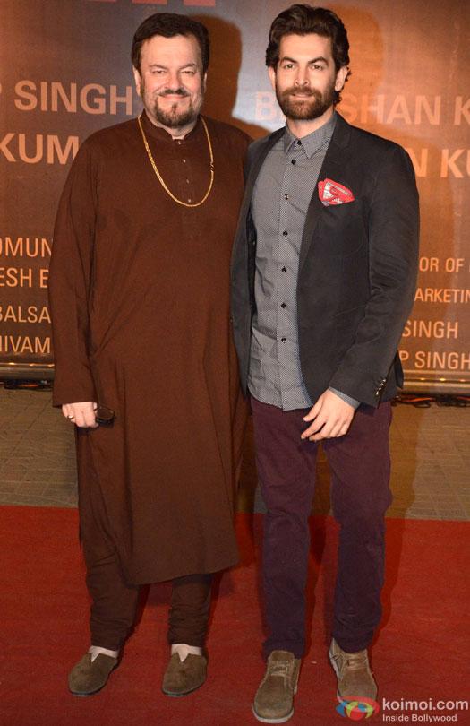 Nitin Mukesh and Neil Nitin Mukesh during the Premiere Of Film 'Sarbjit'