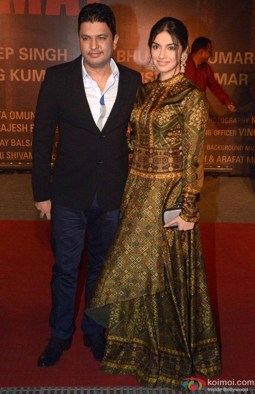 Bhushan Kumar and Divya Khosla Kumar during the Premiere Of Film 'Sarbjit'
