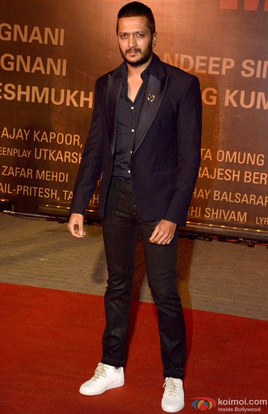 Riteish Deshmukh during the Premiere Of Film 'Sarbjit'