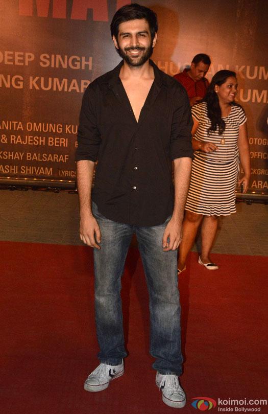 Kartik Aaryan during the Premiere Of Film 'Sarbjit'