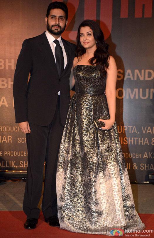 Abhishek Bachchan and Aishwarya Rai Bachchan during the Premiere Of Film 'Sarbjit'