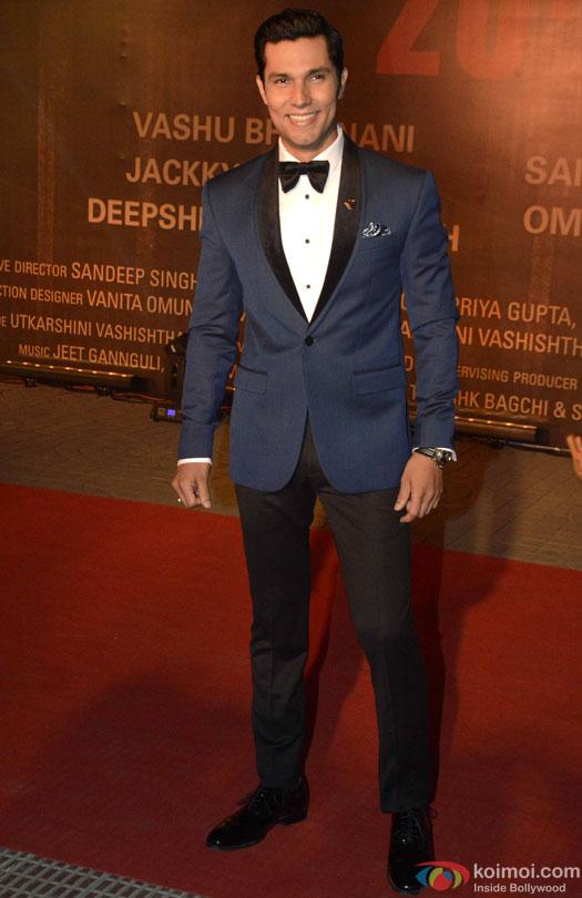 Randeep Hooda during the Premiere Of Film 'Sarbjit'