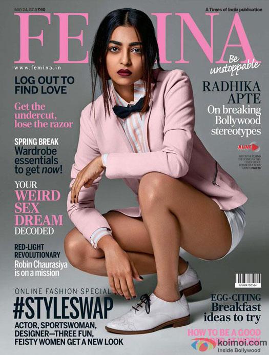Radhika Apte Become The Sexy Covergirl For Femina
