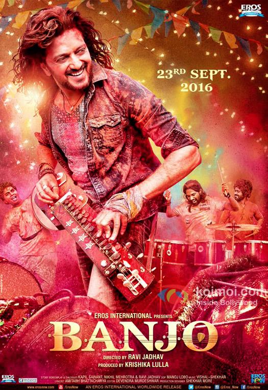 Enjoy The Vibrant & Colourful Poster Of Riteish Deshmukh's Banjo