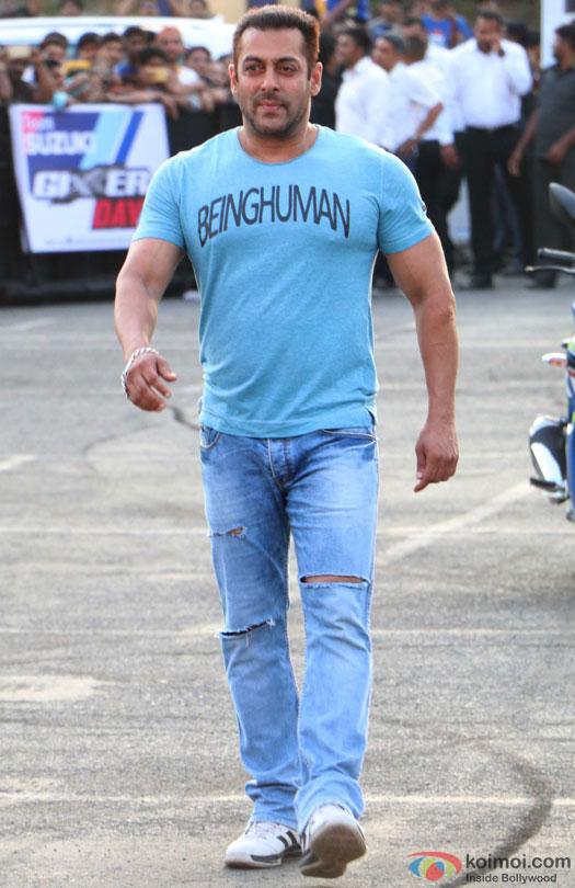 Dhoom Mode On Salman Khan Promotes Suzuki Gixxer With Aras Gibieza
