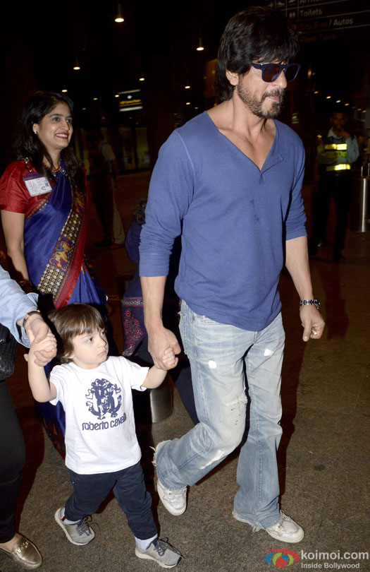 Pictorial: Shah Rukh Khan With Son AbRam & Juhi Chawla