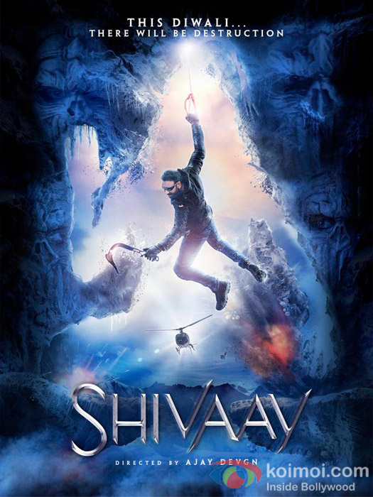 Visually Stunning Shivaay Poster Featuring Ajay Devgn