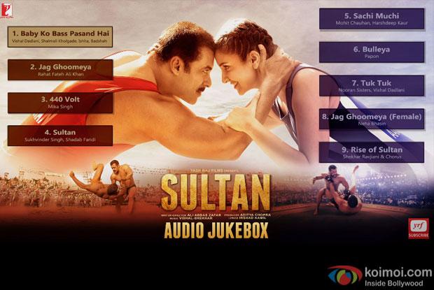 Salman Khan and Anushka Sharma Starrer SULTAN - Audio Jukebox