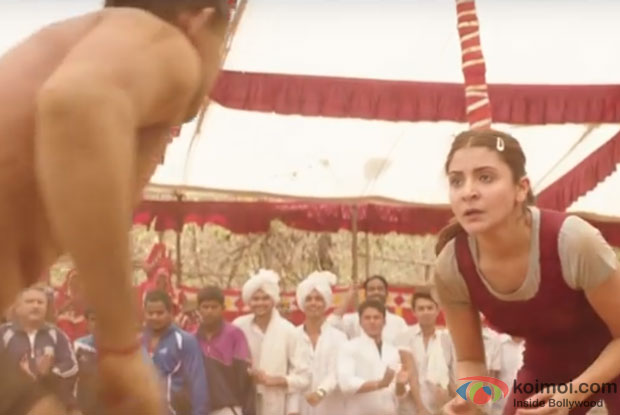 Anushka Sharma in a still from movie Sultan