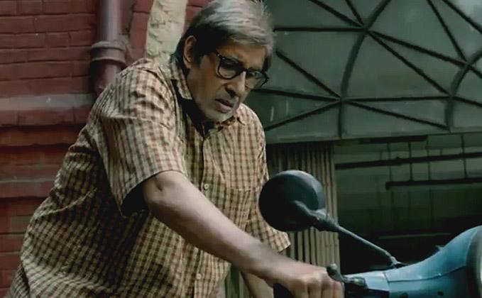 Amitabh Bachchan in a still from TE3N