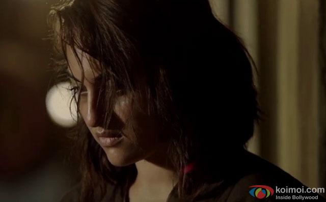 Sonakshi Sinha in a still from movie 'Akira'