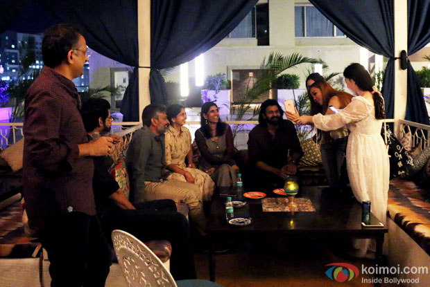 Rana Daggubati, S. S. Rajamouli and Prabhas interacting with the Chinese media