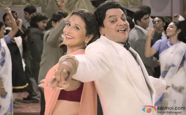 Vidya Balan and Mangesh Desai in a 'Bholi Surat' song still from movie 'Ekk Albela'