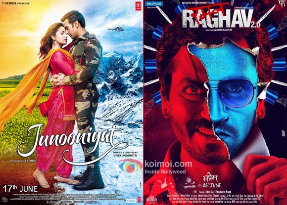 Junooniyat and Raman Raghav 2.0 posters