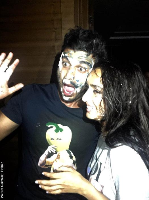 Arjun Kapoor's Birthday Bash On The Sets Of Half Girlfriend