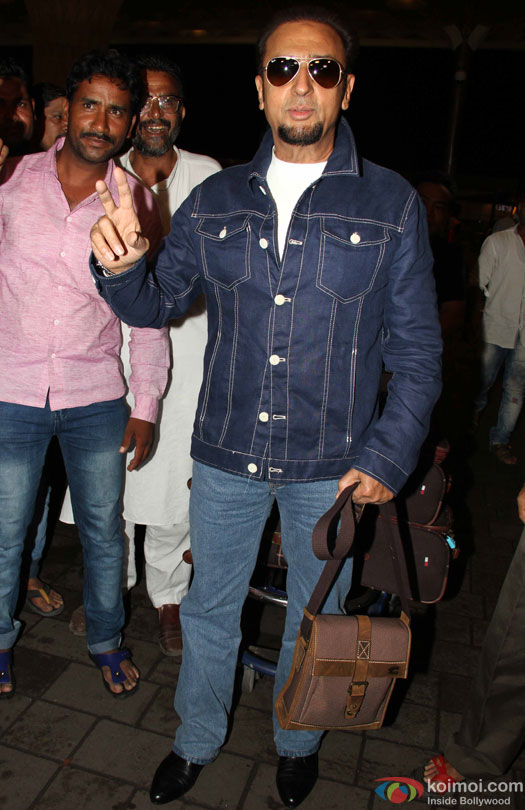 Gulshan Grover at airport leave for IIFA 2016
