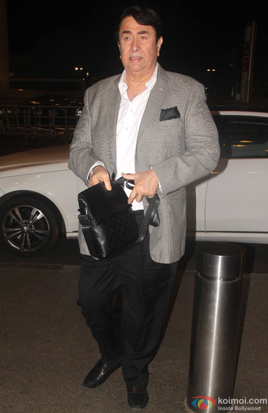 Randhir Kapoor at airport leave for IIFA 2016