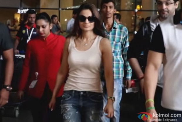 Amisha patel at International Airport