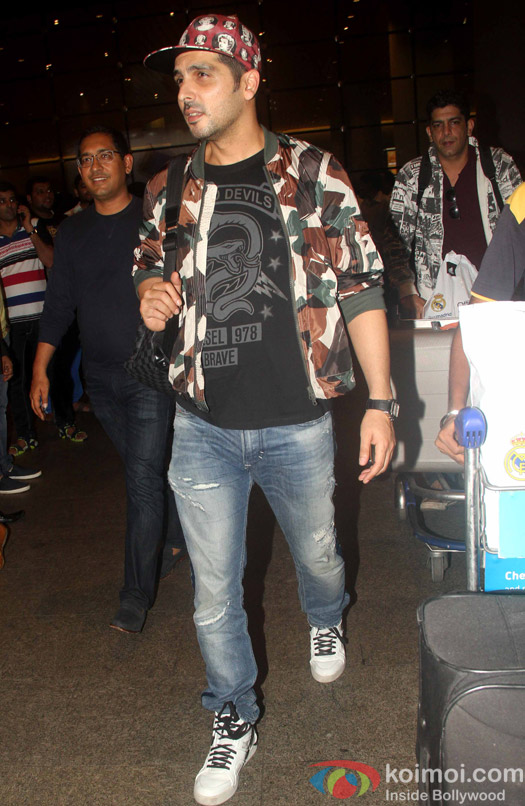 Zayed Khan at International Airport