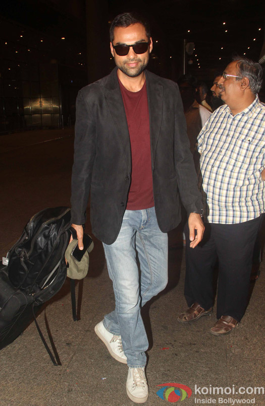 Abhay Deol at International Airport